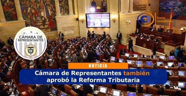 Cámara de Representantes aprueba la Reforma Tributaria o Ley de FInanciamiento